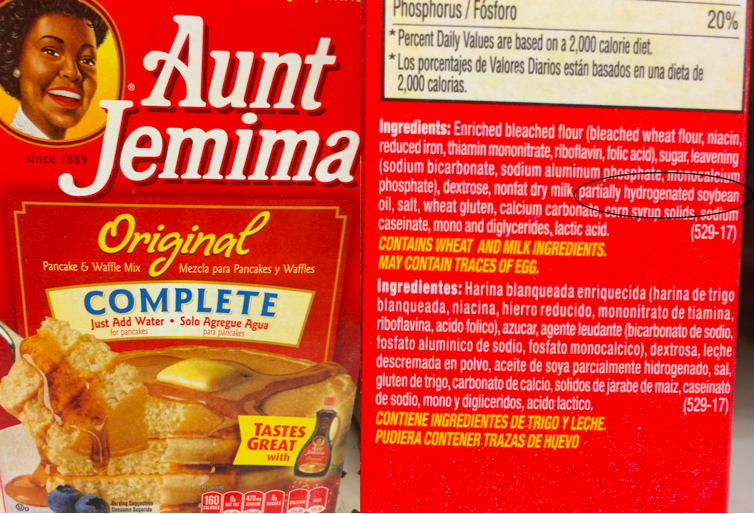 Exposing hidden trans fats fresh print magazinefresh print magazine hidden trans fats bad news aunt jemima ccuart Images